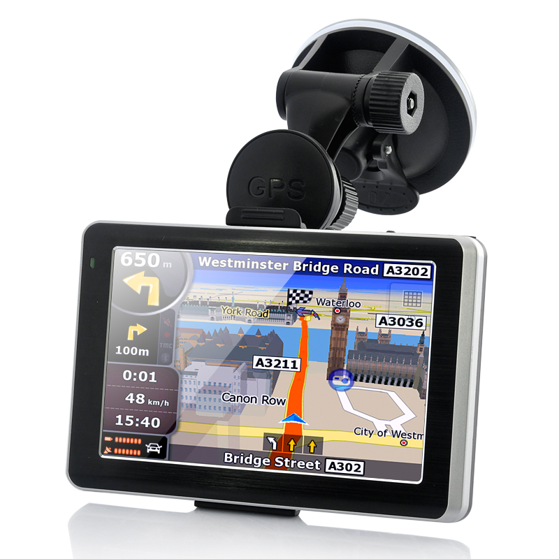 5 Inch Touchscreen Car GPS Navigator with 720P HD DVR Dash Camera