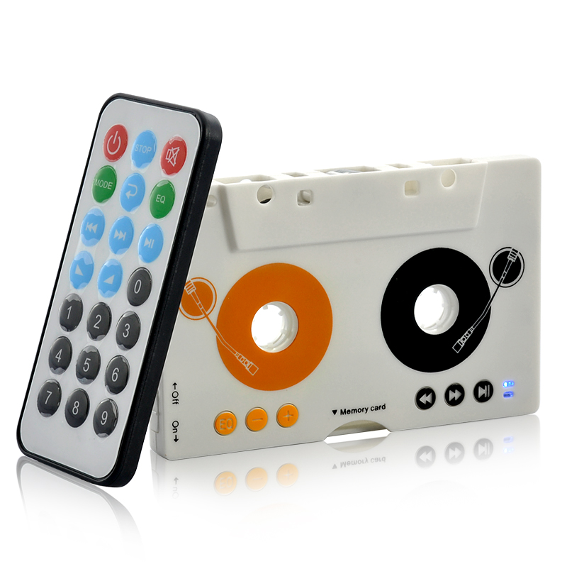 Retro Style Cassette MP3 Player with Remote Control - Stand Alone or Car Cassette Player