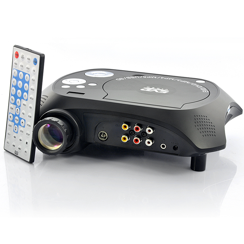 Wholesale Multimedia LED Projector with Built-in DVD Player (USB/TV/AV IN, 20 Lumens)