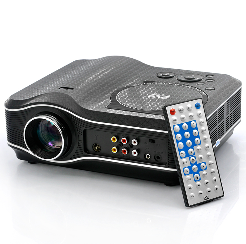 Wholesale Multimedia LED Projector with DVD Player (800x600, USB/TV/AV IN)