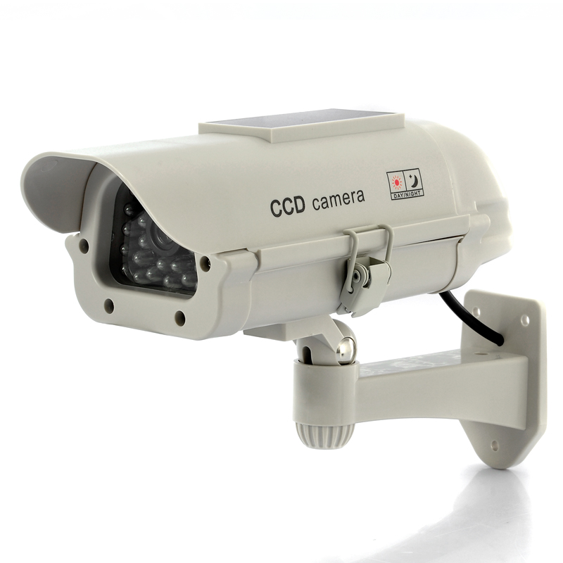 Wholesale Ultra Realistic Dummy Camera with Red Blinking LED - Solar Powered