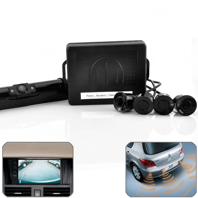 "Wholesale 1/3"" Sony CCD Waterproof Car Rearview Camera with 4 Object Sensors"