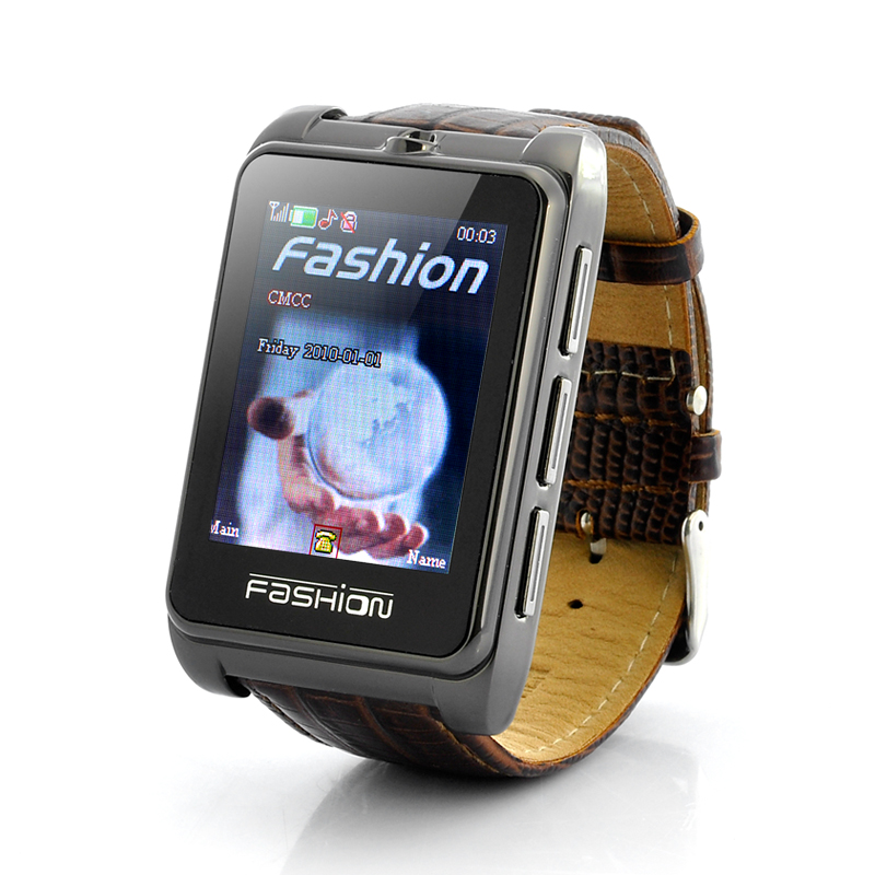Wholesale Smooth Operator - 1.8 Inch Touchscreen Chic Watch Cell Phone with Leather Strap