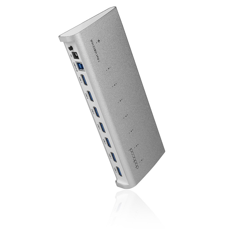 Wholesale dodocool 5Gbps 7-Port USB 3.0 HUB with AC Adapter for iMac/MacBook/Windows - UK Plug