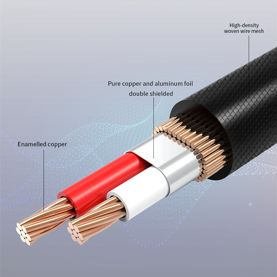 AMPCOM 3.5mm Male to 2 Male RCA Audio Cable Gold Plated for Home Stereo Speaker Smartphone - 1M