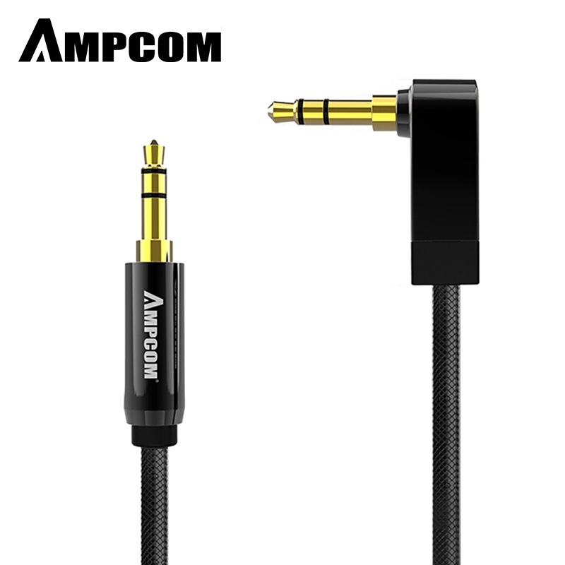 Wholesale AMPCOM Pro Series AUX 3.5mm Male to Male Audio Cable Stereo Audio Pure Copper Gold Plated - 2m