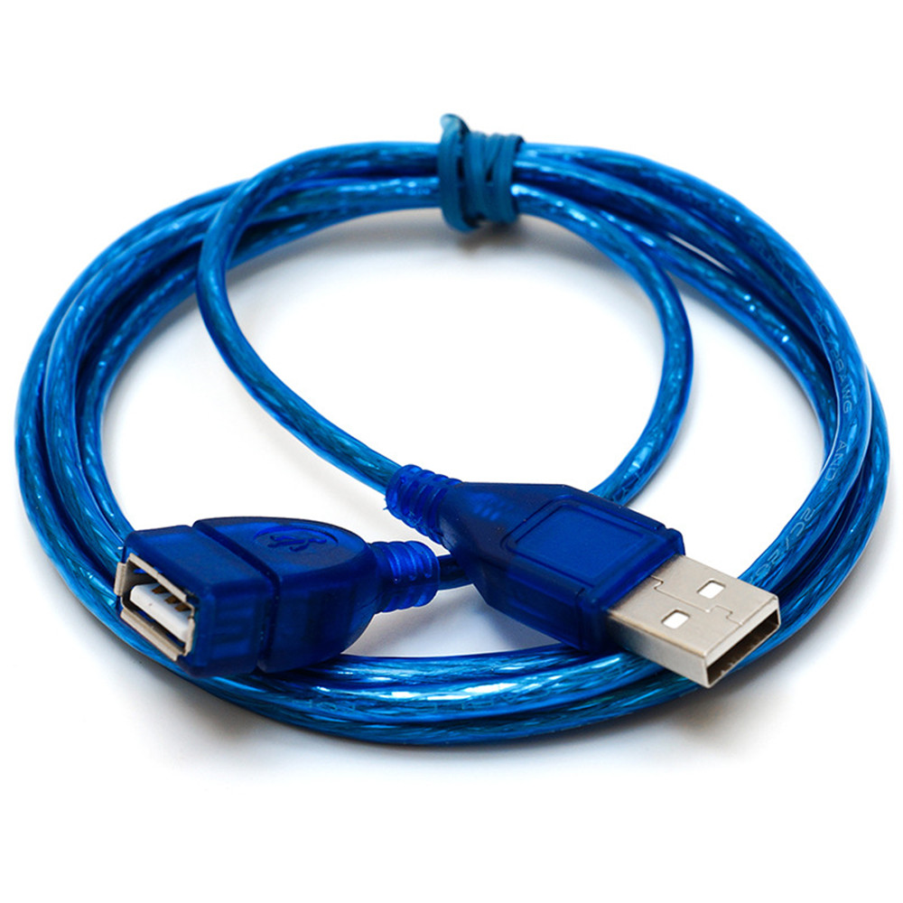 Wholesale Blue 1m USB 2.0 Extension Cable Male to Female for Computer Extension - Sky Blue