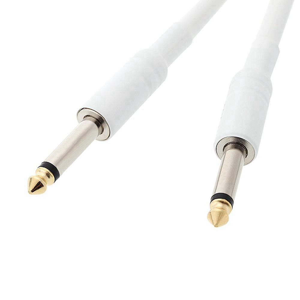 Electric Guitar Cable 6.35/6.35 Microphone 5m Cord - White