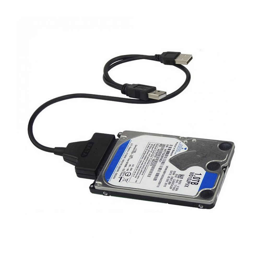 Cwxuan USB to SATA Converter Adapter Cable With 2.5 inch HDD Plastic Case - Black