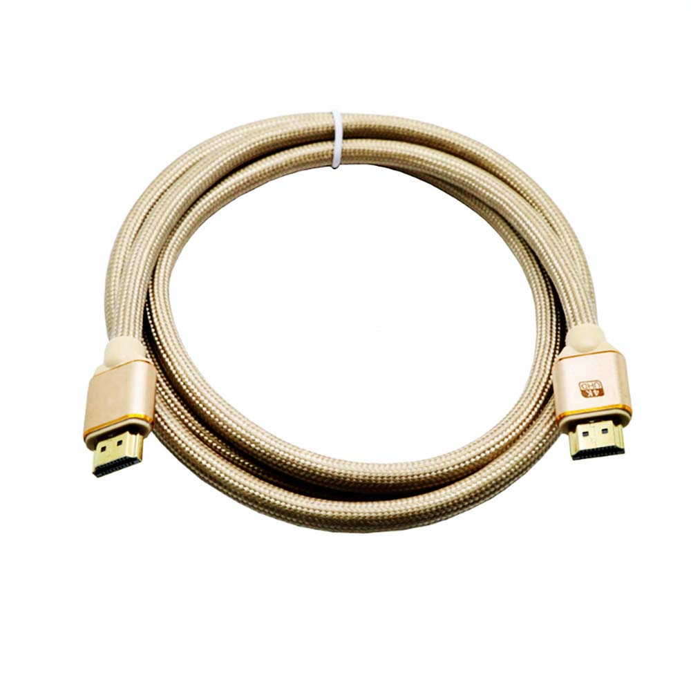 Wholesale Yeshold 1M HDMI Cable 4K TV Connection - Golden brown