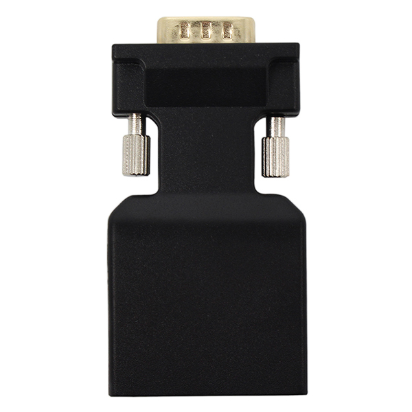 Wholesale VGA to HDMI Adapter Converter with AUX Interface - Black