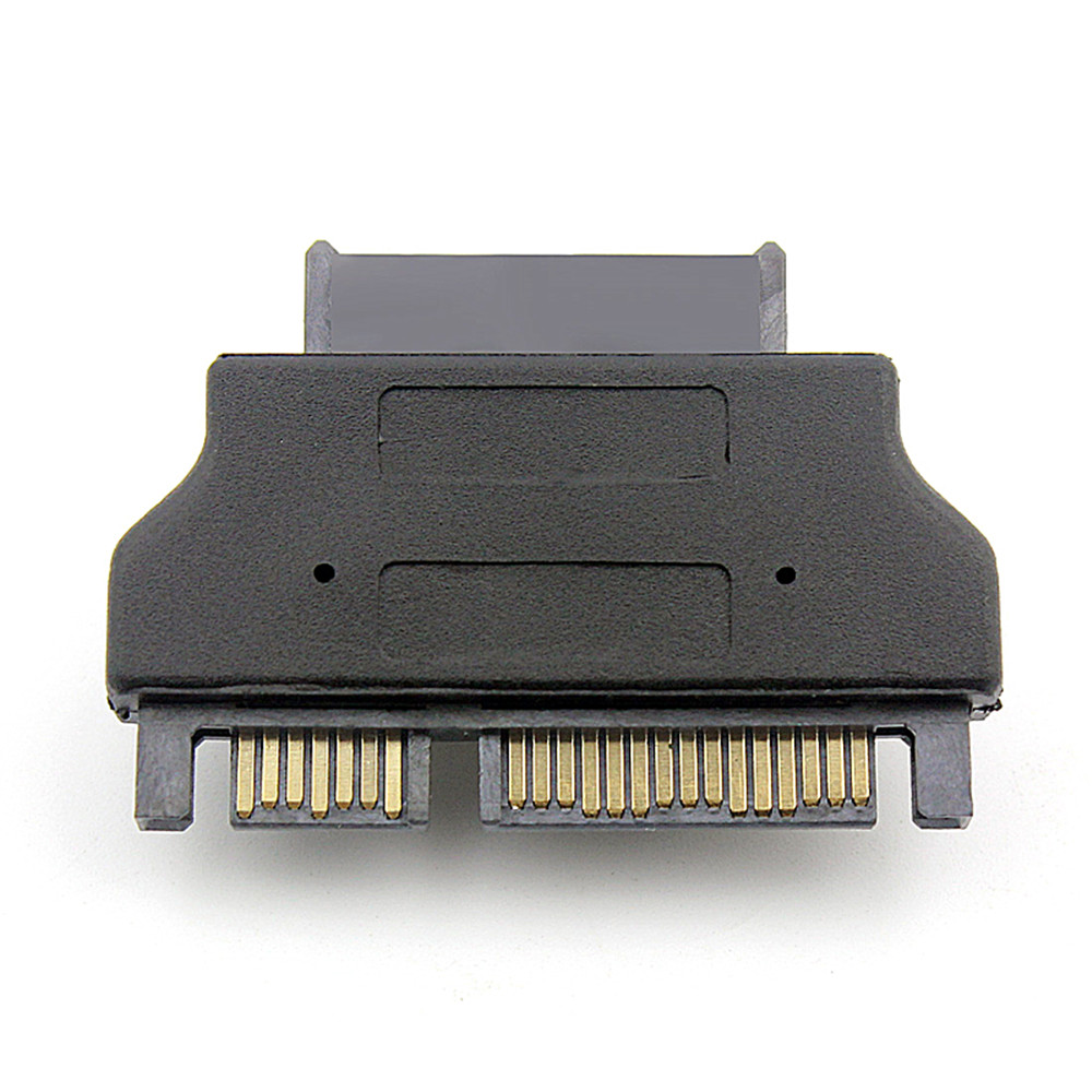 Wholesale 7+15 22PIN Male To Female Micro SATA 7+6 13PIN Connector Convertor - Black