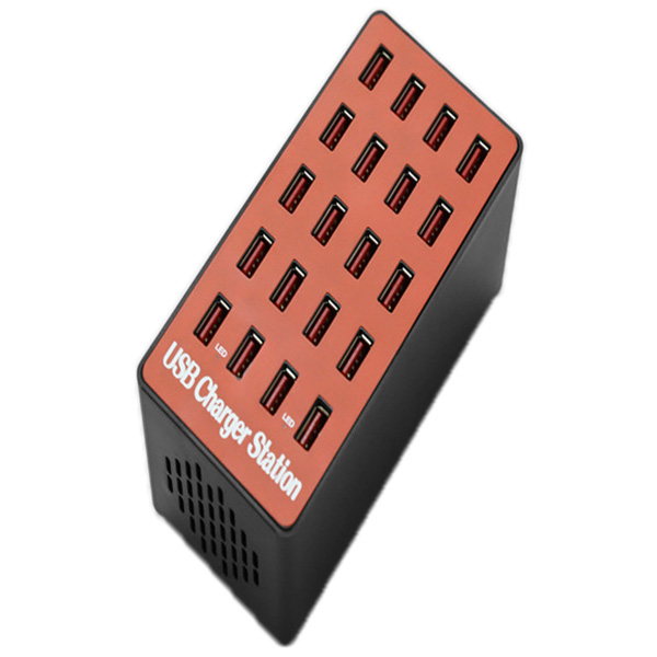 20 Ports USB Fast Charger 100W - Cherry Red