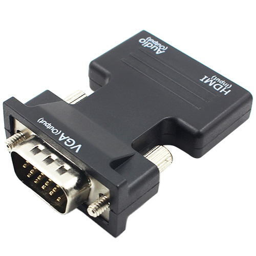 images/pc-audio-video-cable-connector-adapter/A319211901PB/hdmi-to-vga-converter-with-audio-black-plusbuyer_1.jpg