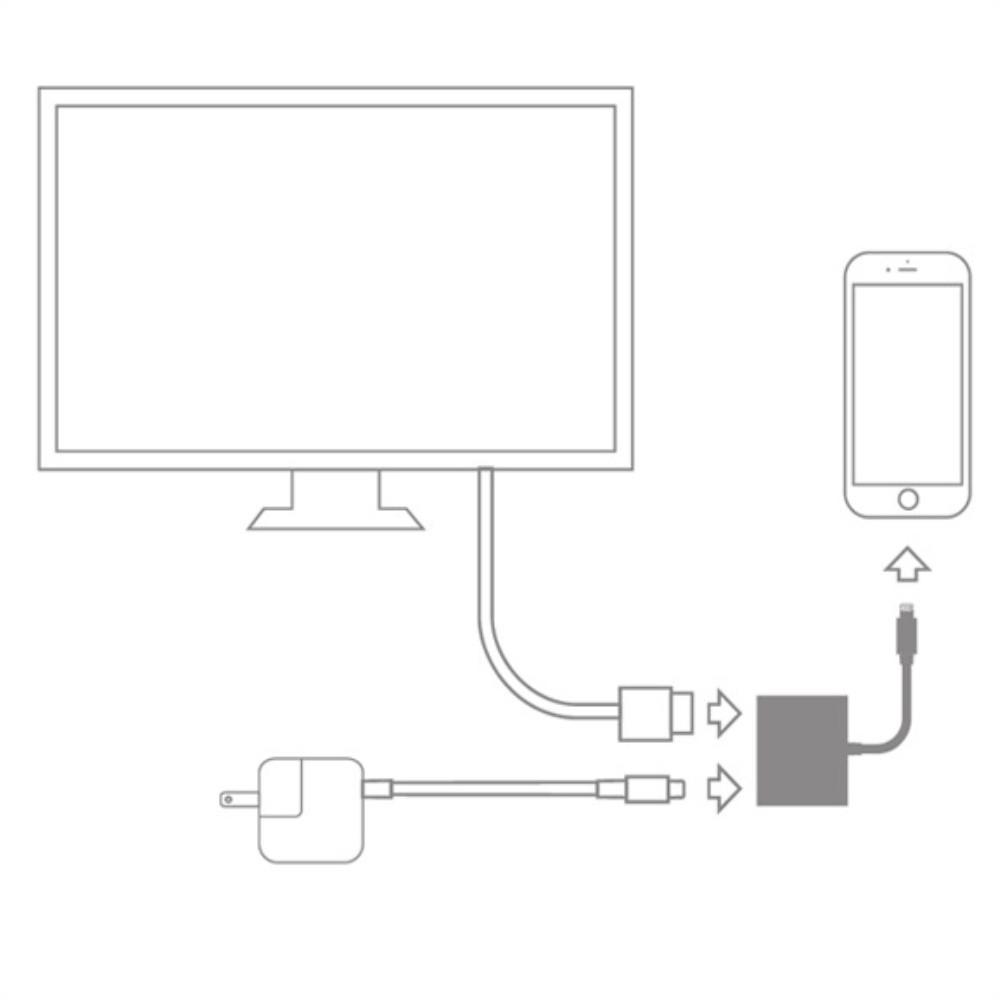 Digital AV TV HDMI Cable Adapter - White
