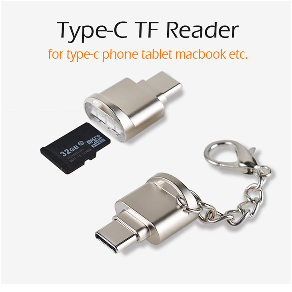 USB 3.1 to Type-C Adapter Micro Converter OTG Adapter with TF SD - Silver