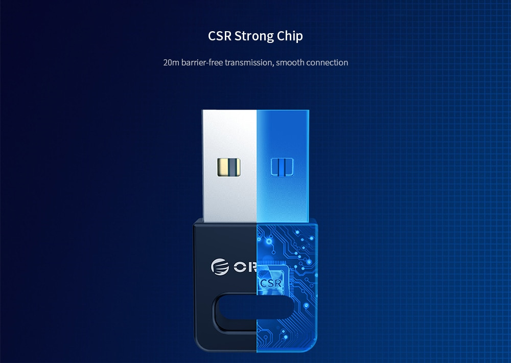 Orico BTA - 409 USB External Bluetooth Adapter 4.0 - White