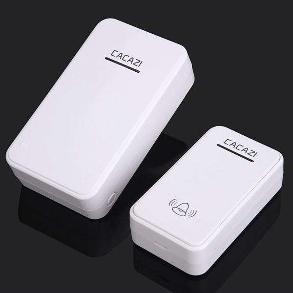 Wholesale CACAZI Super Far Home Wireless Digital Music Doorbell - White Direct current