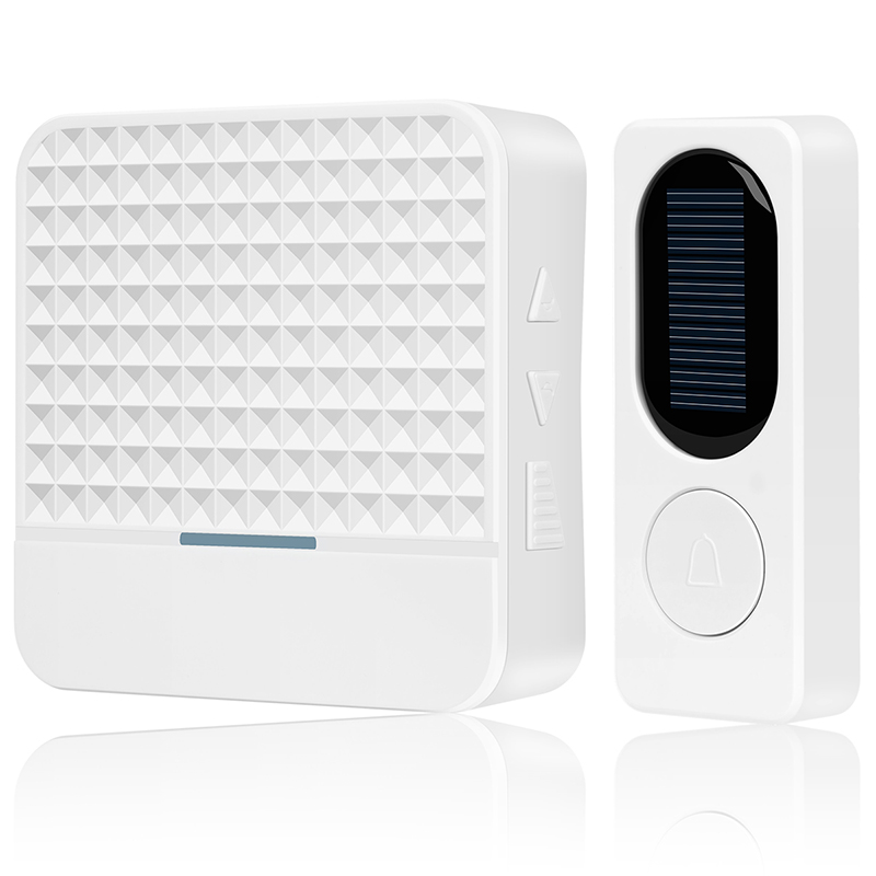 Wholesale F9 Waterproof Energy Saving Wireless Solar Doorbell - White