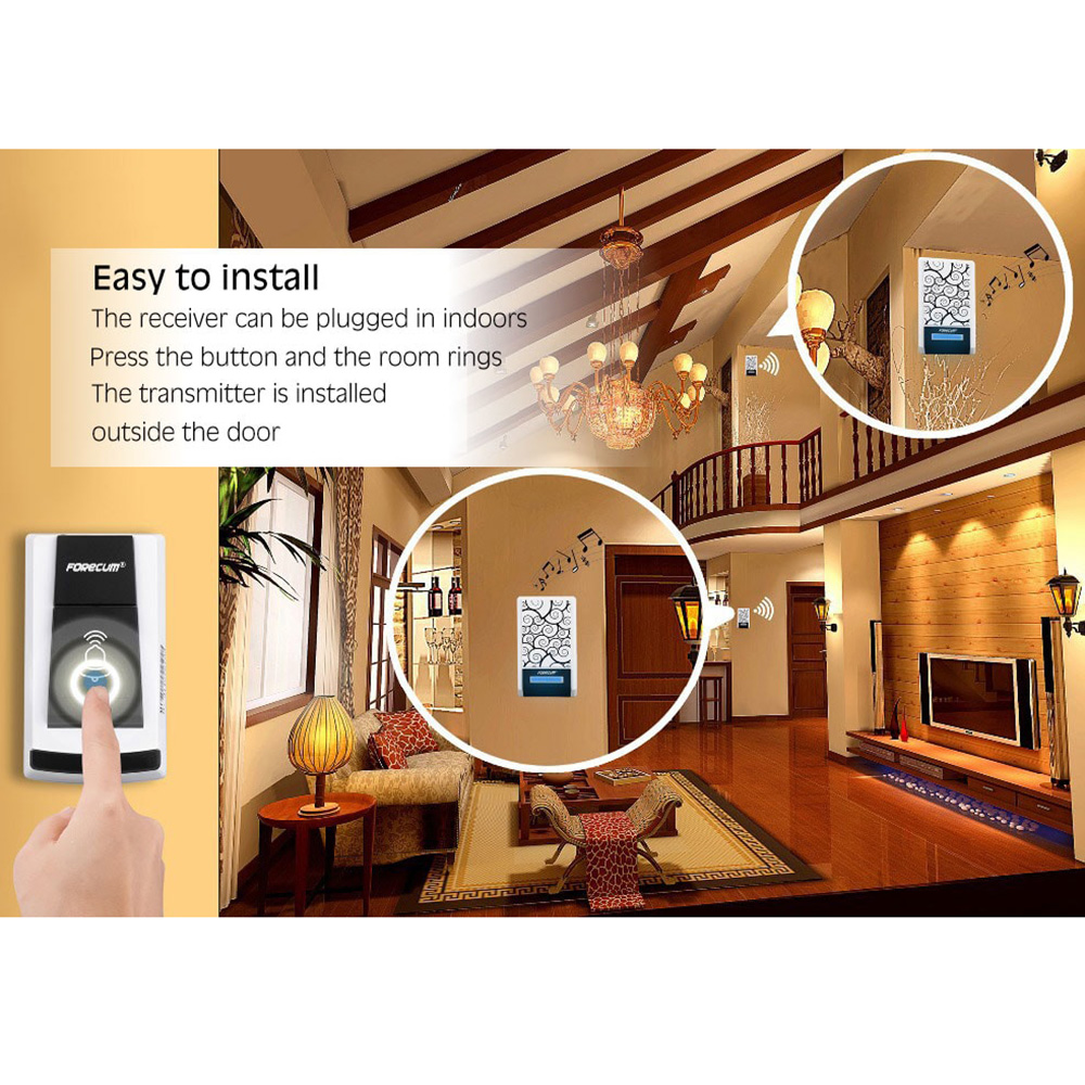Fk - 05 Wireless Waterproof Doorbell for Daily Use - White