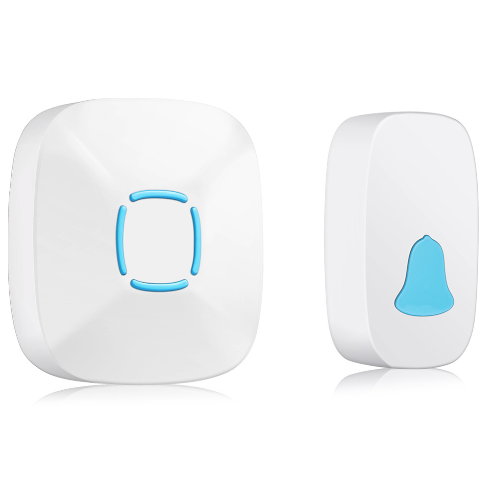 Wholesale Home Wireless Doorbell Waterproof Music Smart Doorbell Pager - White