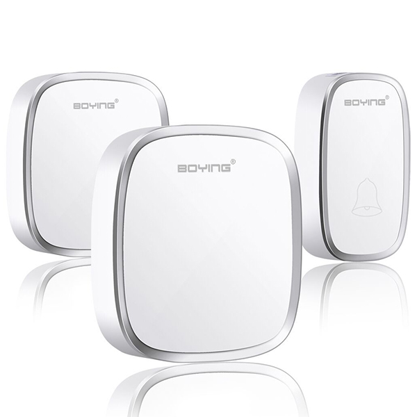 Wholesale One for Two Wireless Doorbells - White