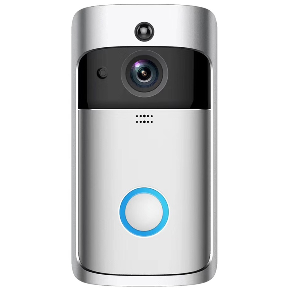 Wholesale Original EKEN V5 720P HD WiFi Camera Real-time Video PIR Motion Detection Video Doorbell - Platinum