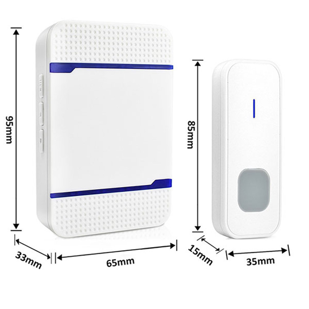 P7 Wireless Home Remote Music Electronic Doorbell - White