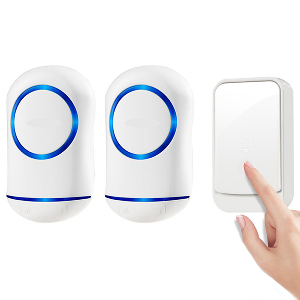 Wholesale Smart Wireless Home Exchange Digital Electronic Music Doorbell - White
