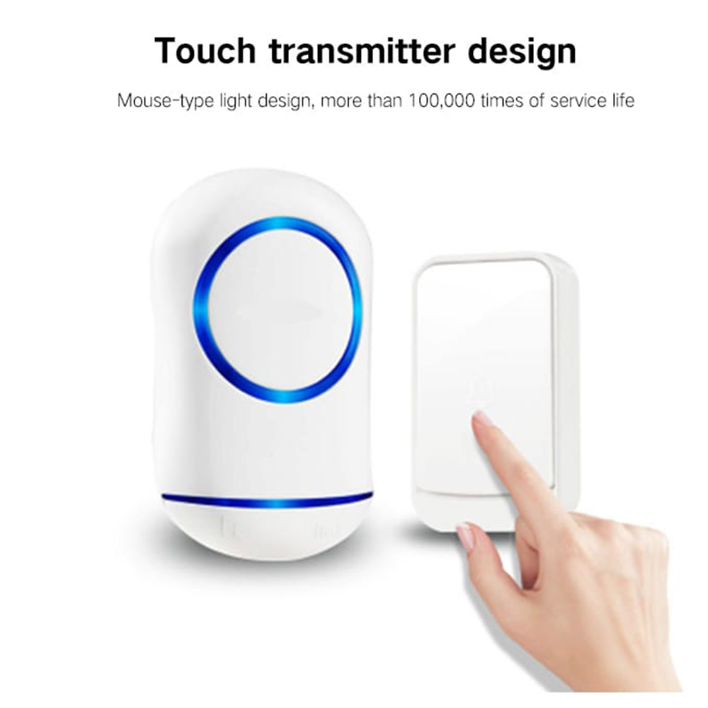 Smart Wireless Home Exchange Digital Electronic Music Doorbell - White