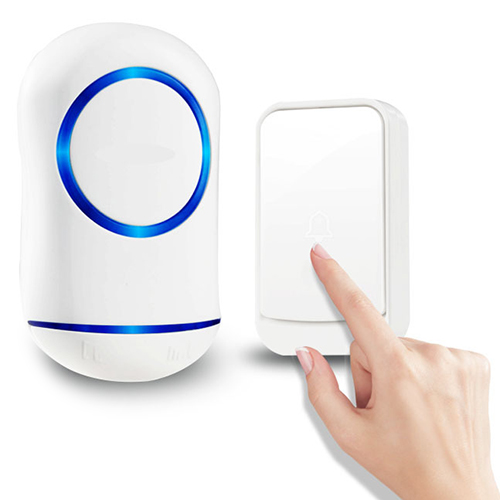 Wholesale Wireless Smart Remote Control Factory Wholesale Electronic Waterproof Doorbell - White