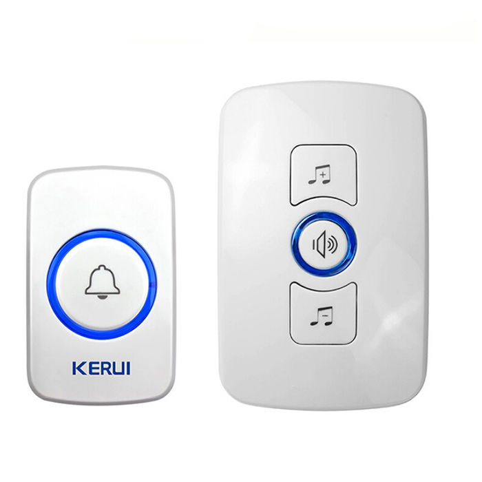 Wholesale kerui M525 Wireless Doorbell with Transmitter Music Door Bell Alarm - White