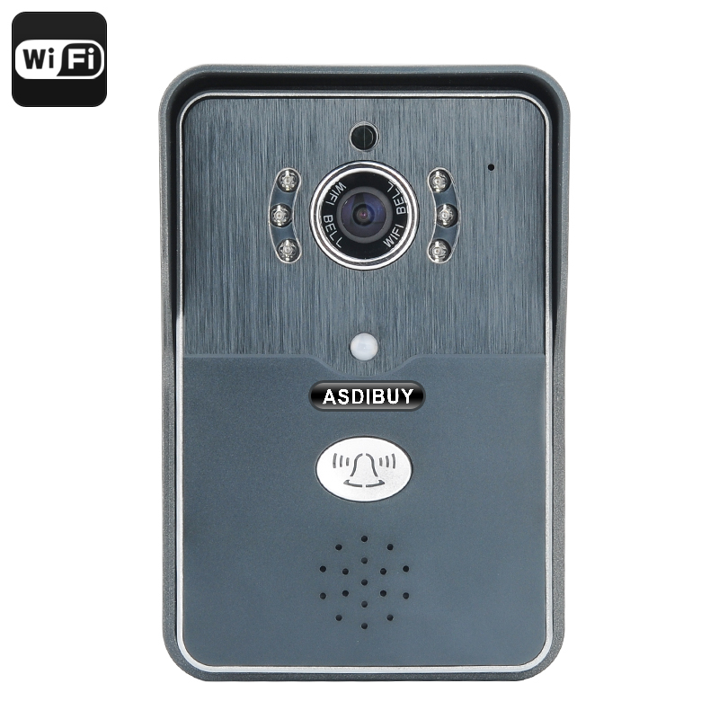 Wholesale PIR Motion Detection Wi-Fi Video Door Phone with iOS/Android Two Way Audio (720P, Night Vision, 1/4 Inch CMOS)