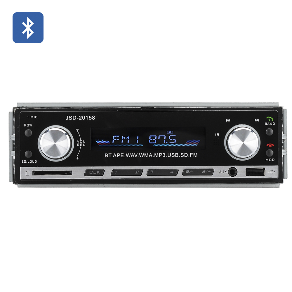 Wholesale Universal 1 DIN Bluetooth Car Stereo System (Remote Control, FM Radio, 4x 45W Speaker)