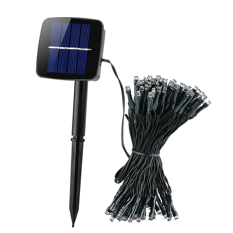 Wholesale Solar Fairy Decorative Lights with 100 Red/Green/Blue LEDs - 1500mAh