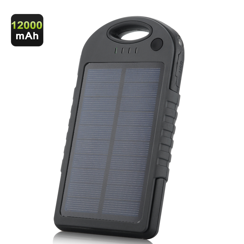 Wholesale 12000mAh Dual USB Rugged Outdoor Solar Charger (Weatherproof, Dustproof, Shockproof)
