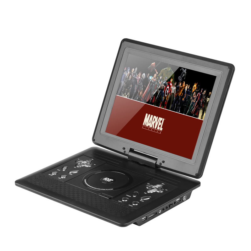 15 6 inch swivel screen portable dvd player with media. Black Bedroom Furniture Sets. Home Design Ideas