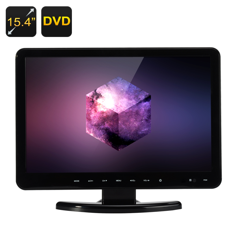 Wholesale 15.4 Inch Full HD LCD Monitor + DVD Player (Remote, 1920x1080, TV, VGA/HDMI/USB/SD Card In)