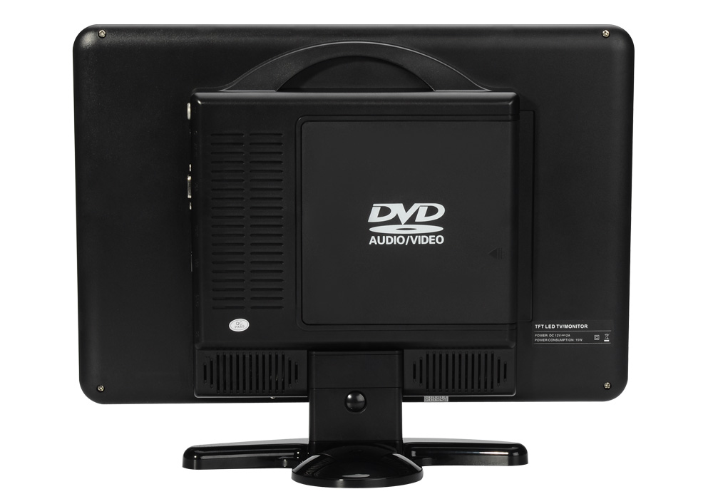 15 4 inch full hd lcd monitor dvd player remote 1920x1080 tv vga hdmi usb sd card in. Black Bedroom Furniture Sets. Home Design Ideas