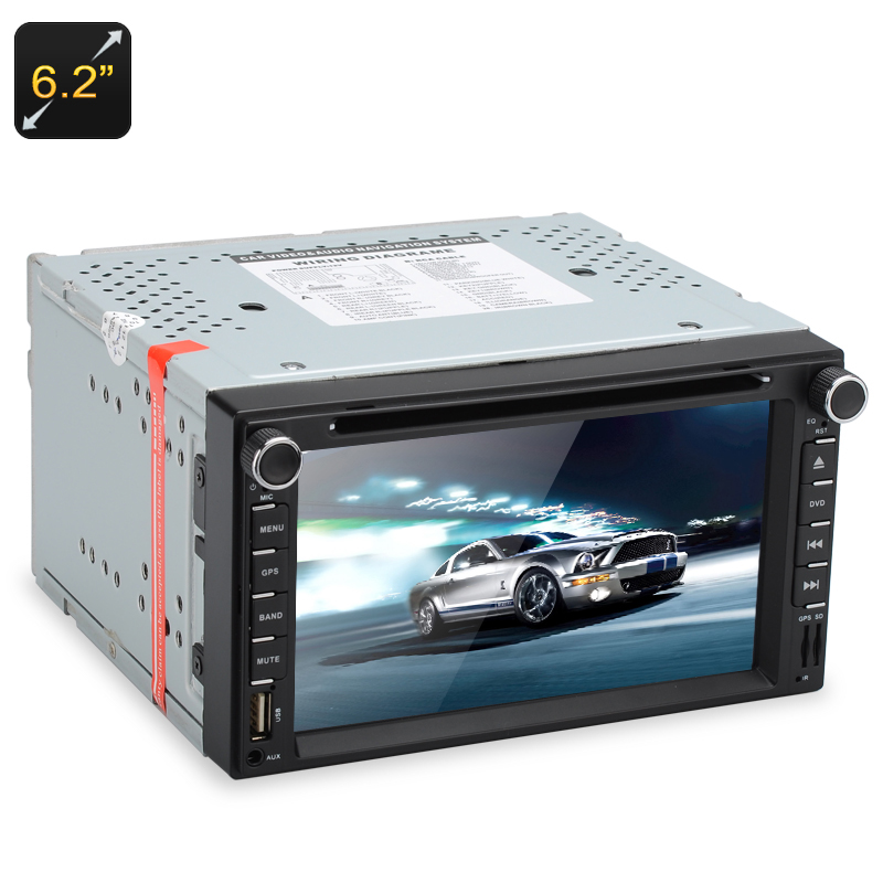 Wholesale 2 DIN Universal Touchscreen Car DVD Player (GPS, Display APP, Bluetooth, 6.2 Inch)