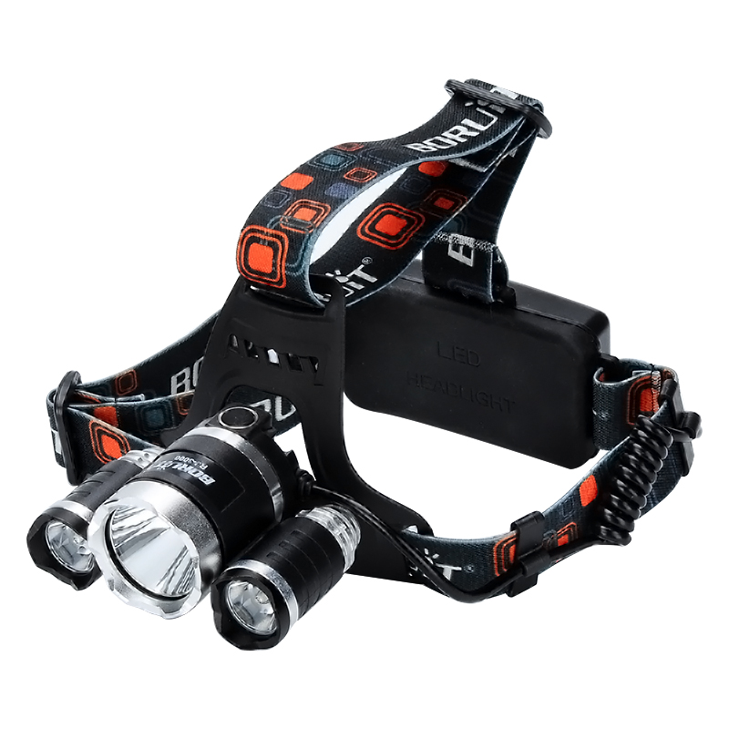 Wholesale 3 CREE XM-L T6 LED Head Lamp with Adjustable Head Strap (3800 Lumens, Battery Charger, Weatherproof)
