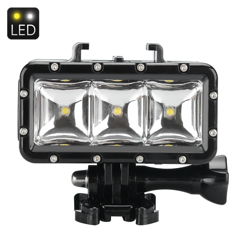 Wholesale 30M Waterproof LED Light For Sports Action Camera/GoPro Hero/SJCAM (300 Lumens, 3 Light Modes)