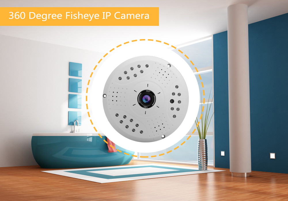 360 Degree Fisheye Security Camera for AHD/DVR (Motion Detection, Night Vision, IR Cut, 1/3 Inch CMOS)
