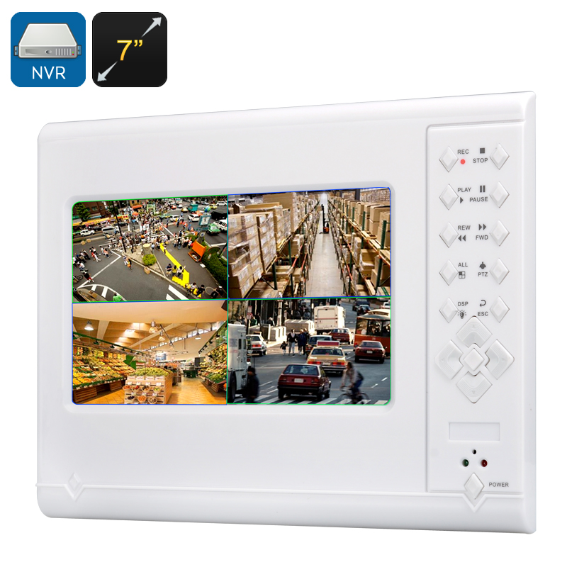 Wholesale 7 Inch Touchscreen 4 Channel NVR with Intercom (Mic, H.264, ONVIF 2.0)