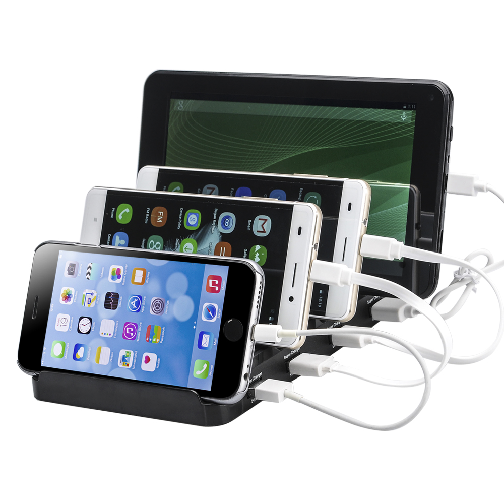 Wholesale 4 Port USB Charging Station (Fast Charge, 48W/9.6A, 5V/2.4A)