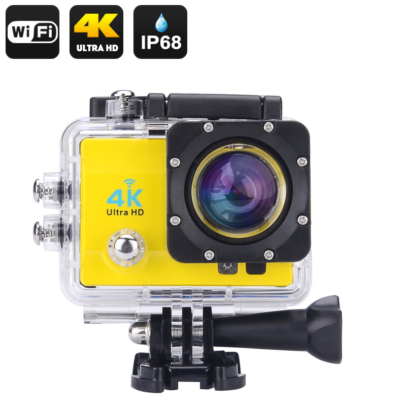 Wholesale Wi-Fi 4K Waterproof Sports Action Camera (Ultra HD, 16MP, HDMI,