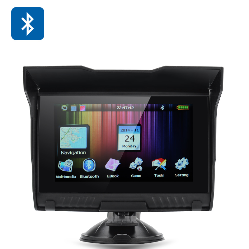Wholesale 5 Inch Motorcycle GPS Navigator (IPX5 Waterproof, Bluetooth, Touchscreen, 8GB)