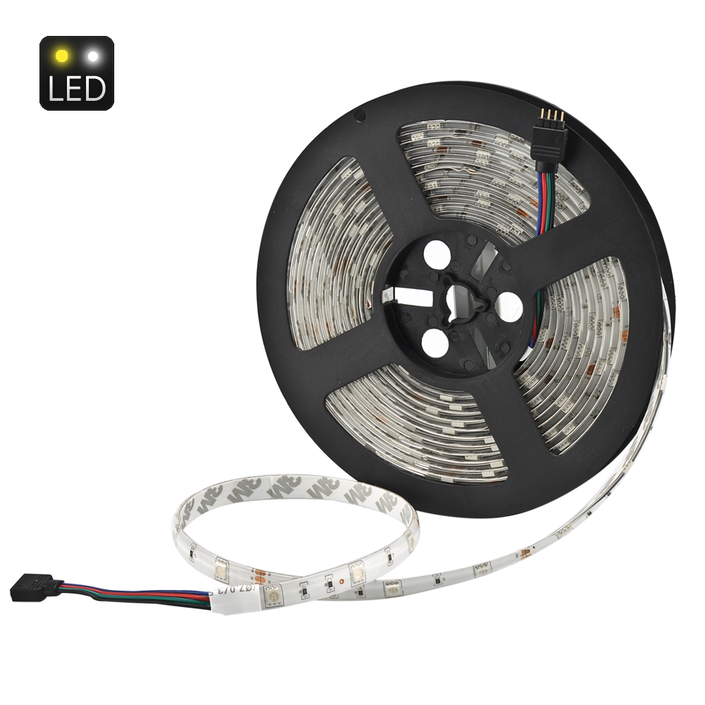 Wholesale 5 Meter 36W RGB LED Light Strip (IP65, 30 LED Per Meter, 20 Key Infrared Music Remote Controller)