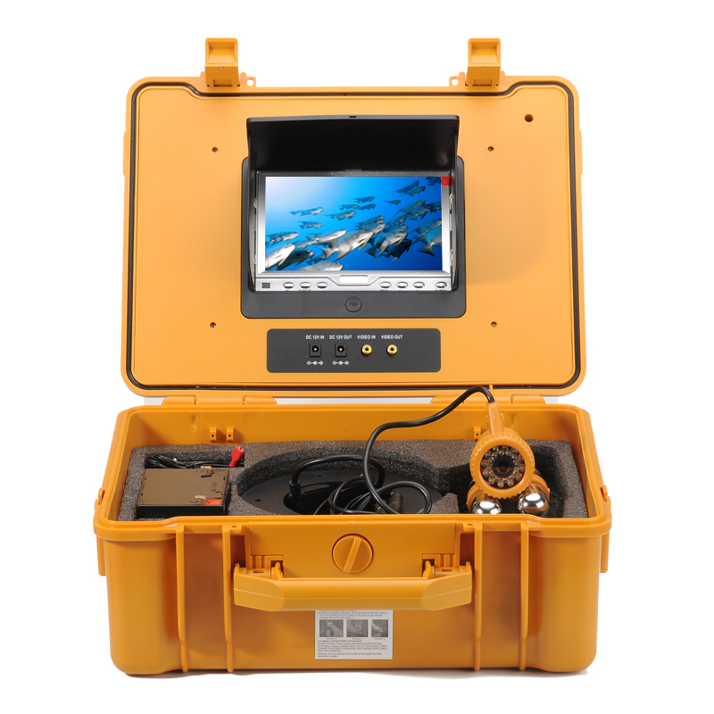 Wholesale 600TVL Underwater Fishing Camera with 7 Inch Monitor (1/4 Inch CMOS, 24 White LEDs, 20 Meter Depth)
