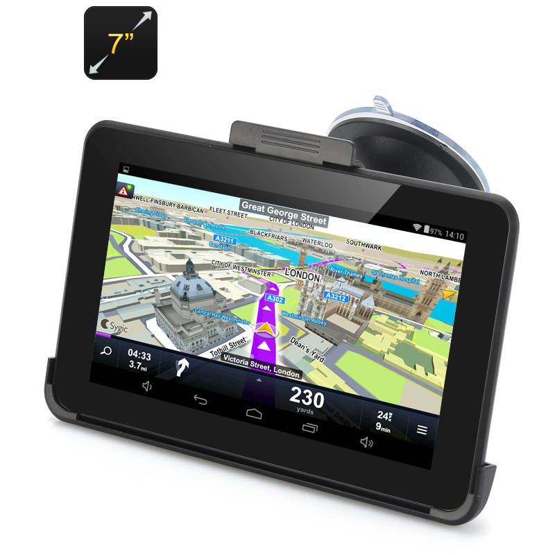 Wholesale 7 Inch Android 4.4 GPS Navigation (800x480, FM Transmitter, 1500mAh)